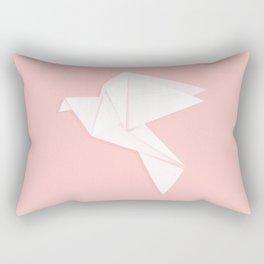 Origami dove Rectangular Pillow