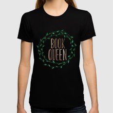Book Queen Black LARGE Womens Fitted Tee