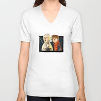 back to the future V-neck T-shirts featuring Back to the future by Peerro