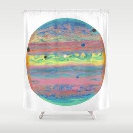 Triple Eclipse on Jupiter Shower Curtain