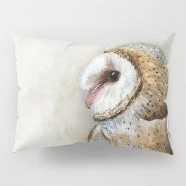 Barn Owl Watercolor, Birds Of Prey Wild Animals Owls Pillow Sham