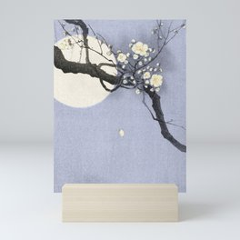 Full Moon and blossom Mini Art Print
