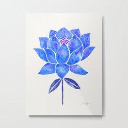 Sacred Lotus – Blue Blossom Metal Print