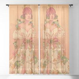 Frog Queen Sheer Curtain