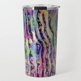 Colorful Rainbow Abstract Aspen Tree Colorado Painting Travel Mug