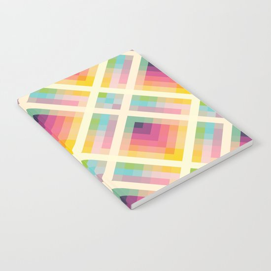 Retro Rainbow Notebook