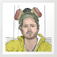 jesse pinkman Art Prints featuring JESSE PINKMAN by VivaLaJim
