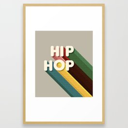 HIP HOP - typography Framed Art Print