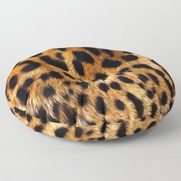 Vegan Leopard Skin Animal Fur Design Floor Pillow