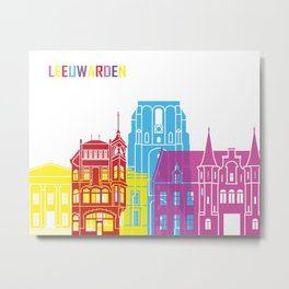 Leeuwarden skyline pop Metal Print