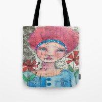 zelda Tote Bags featuring Zelda by Judy Skowron