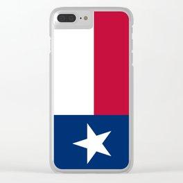 Texas Flag Lone Star Flag Clear iPhone Case
