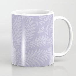 Purple Damask Fern Leaf Fancy Scroll Pattern Coffee Mug
