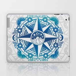 Journey to Moon Mountain | Turquoise Navy Ombré Laptop & iPad Skin