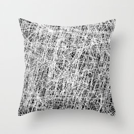 Web Of Confusion - Black and white, abstract painting Throw Pillow