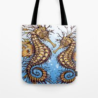 seahorse Tote Bags featuring Seahorse by TAOJB