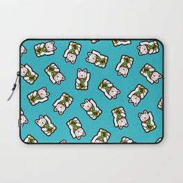 Lucky Cat Pattern Laptop Sleeve