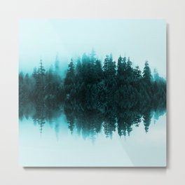 Cloudy Forest Metal Print