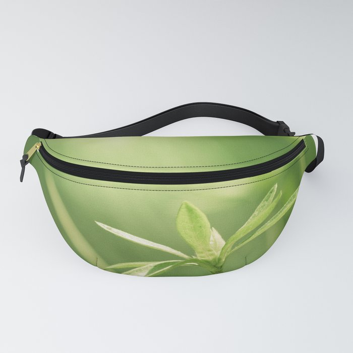 Green Nature Photography, Green Leaves Botanical Art Photo, Colorful Modern Print Fanny Pack