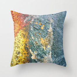 Colorful Abstract Texture Throw Pillow