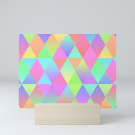 Colorful Geometric Pattern Prism Holographic Foil Triangle Texture Mini Art Print