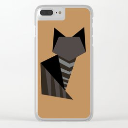 Little Black Cat Clear iPhone Case