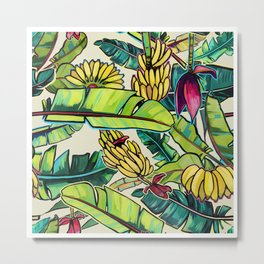Local Bananas Metal Print