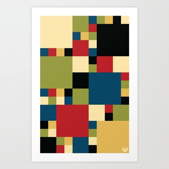 Squares Pattern II Art Print