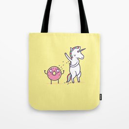 How donuts get sprinkles Tote Bag