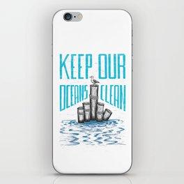 Keep Our Oceans Clean iPhone Skin