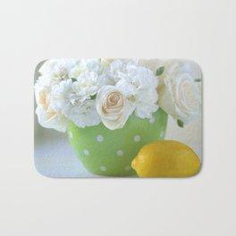 Polka Dots and a Lemon Bath Mat