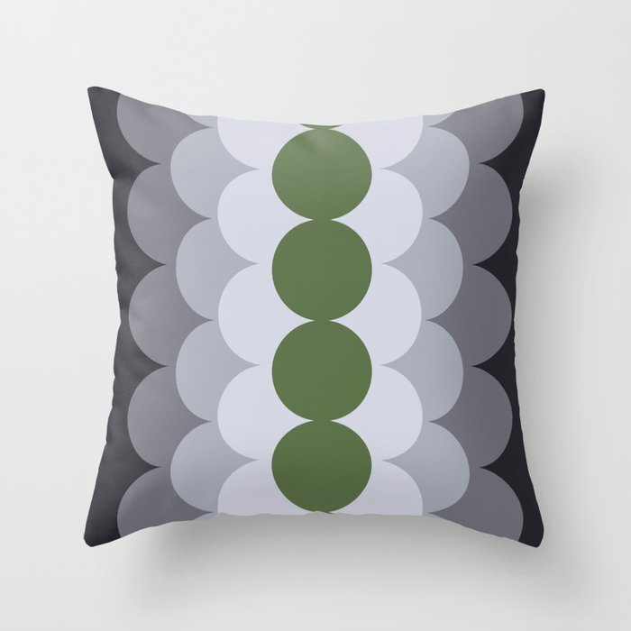 Gradual Kale Throw Pillow