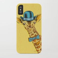 I'm too SASSY for my hat! Vintage Painted Giraffe. iPhone X Slim Case