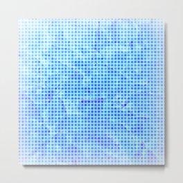 Pale Blue Dots Metal Print