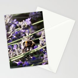 London Lavender Bumblebee Stationery Cards