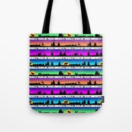 animal silhouette pattern Tote Bag