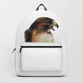 Red-tailed Hawk - Fierce Bird Watercolor Painting Backpack