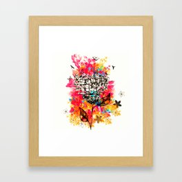 Abstract flower's face, colors Framed Art Print