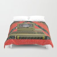contact Duvet Covers featuring CONTACT by N3GATIVE CR33P