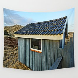 Small house in the dunes Wall Tapestry