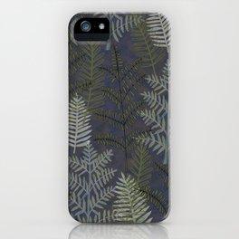 Ferns Purple Blue iPhone Case