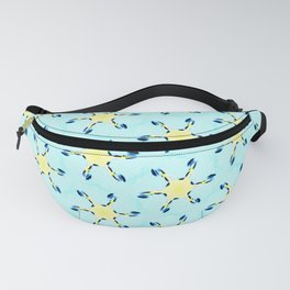 starfish on turquoise tropical sea geometric pattern Fanny Pack