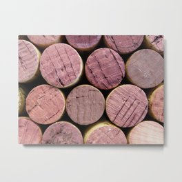 Red Wine Corks 5 Metal Print