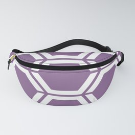 Pomp and Power - violet - Geometric Polygon Pattern Fanny Pack