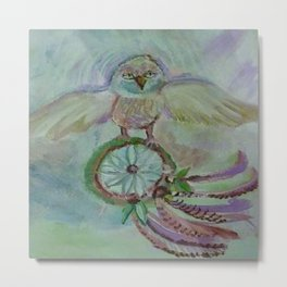 Dreamcather and owl Metal Print