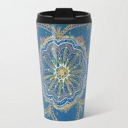 Gold, Silver, Bronze Mandala Travel Mug