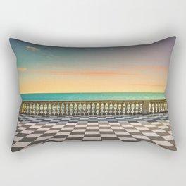 Mascagni Terrazza terrace at sunset. Livorno Tuscany Italy Rectangular Pillow