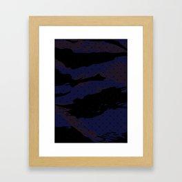 Dot Tiger Camouflage Framed Art Print