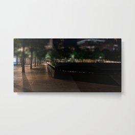 9-11 Memorial at night, night city, downtown, Manhattan, New York (2020-5-GNY150) Metal Print
