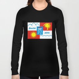 Sochi 2014 flag - Authentic version Long Sleeve T-shirt